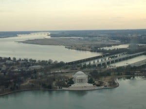 D.C. on a budget - view from the Washington Monument