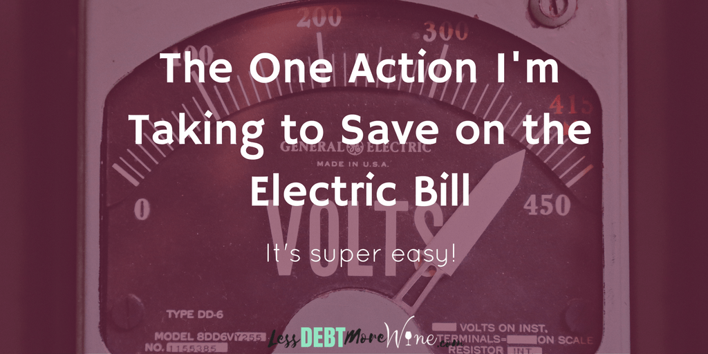One simple idea to save on the electric bill!