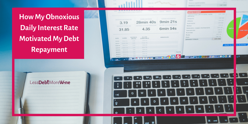 Calculating your daily interest rate is a great way to get motivated to destroy your debt.