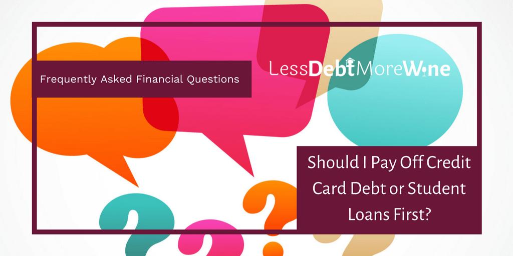 FAQS | personal finance | credit card debt | student loans | student debt