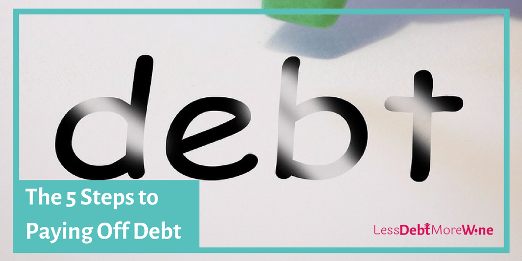 5 steps to paying off debt | debt repayment | how to pay off debt