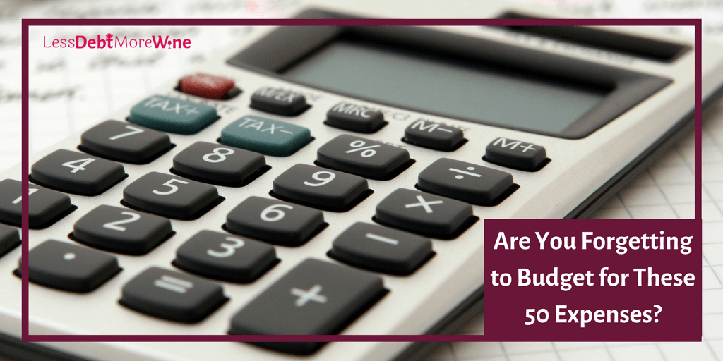 don't forget to budget for these expenses   budgeting   categories