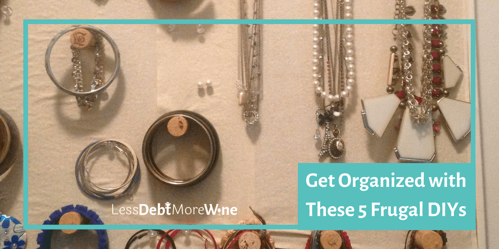 Get organized for less than $50 with these frugal DIYs