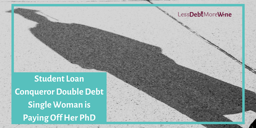 student loan conqueror series | double debt single woman | interview series | student loans