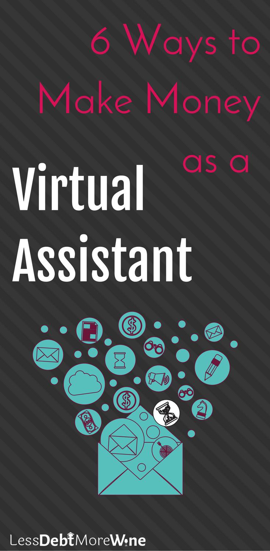 side hustle virtual assistant | make extra money | how to side hustle