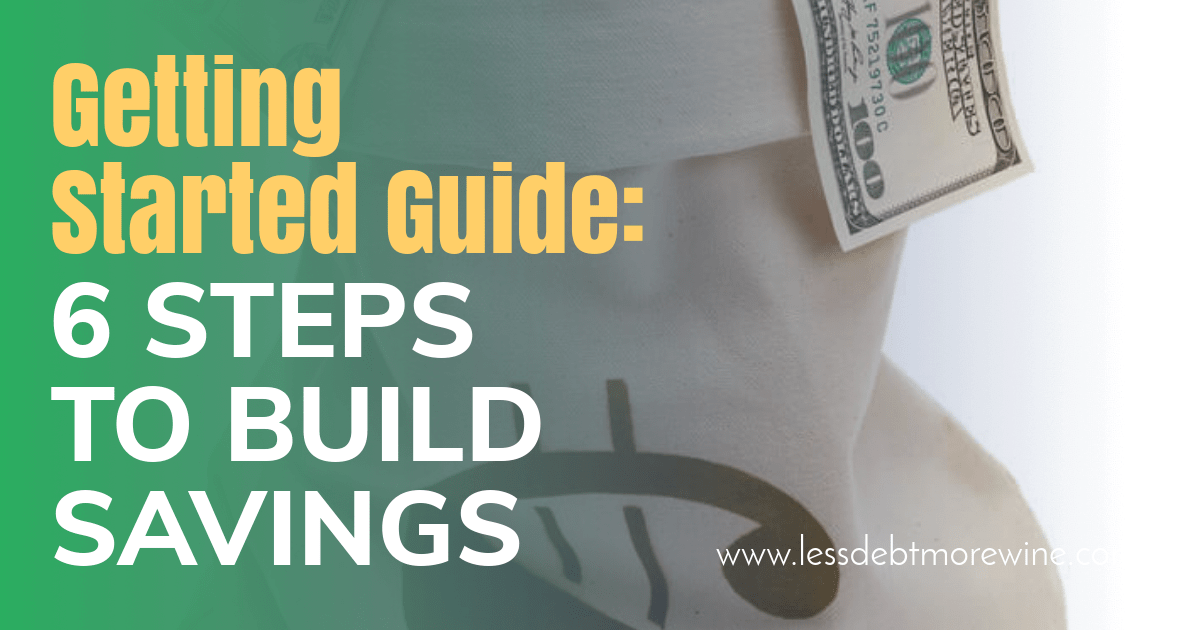 Even when you're in debt you can still build savings, these six easy steps will get you started to build savings and do it on autopilot.