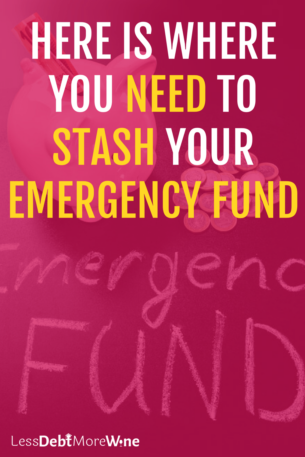 Here is Where You Need to Stash Your Emergency Fund | build savings | emergency fund | how to save money