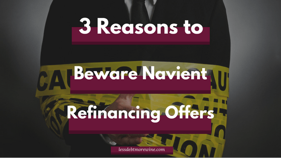 "Ever had a heart attack after getting an email from Navient student loans with the subject line ""Important Notice from Navient""? I have and it's reason #1 why I think you should avoid Navient's refinance offers"
