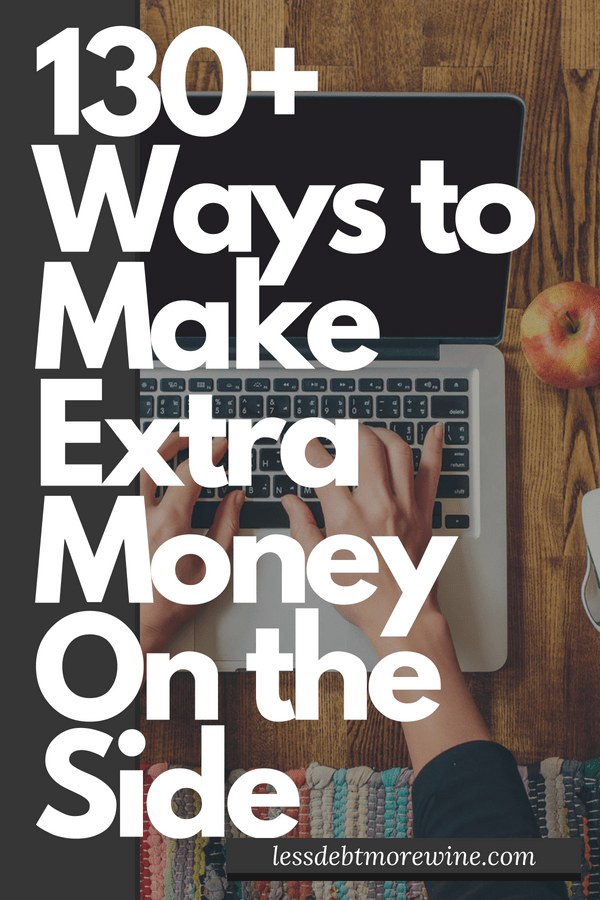 Looking to start making extra money on the side? Check out this list of 130+ ways to make extra money on the side and get started with a side gig or side hustle!